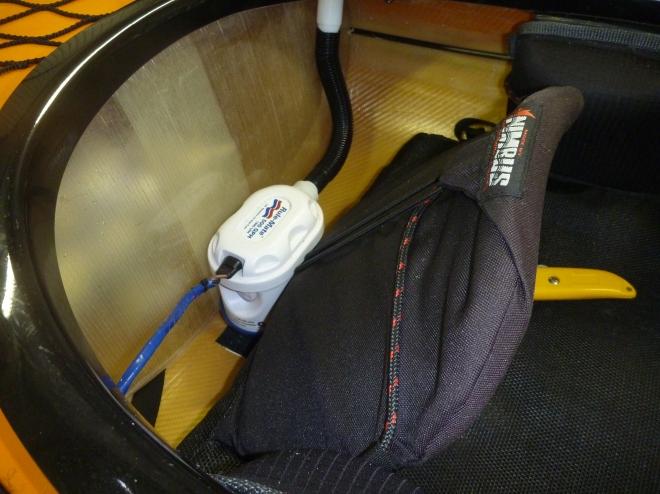 pump installed behind seat