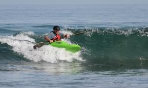 Fun on small reef break waves