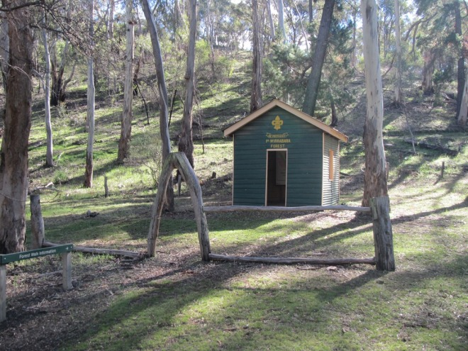 Scout Hall near Foresty Headquarters has now been restored