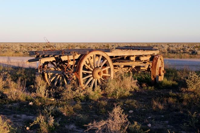 Old dray cart
