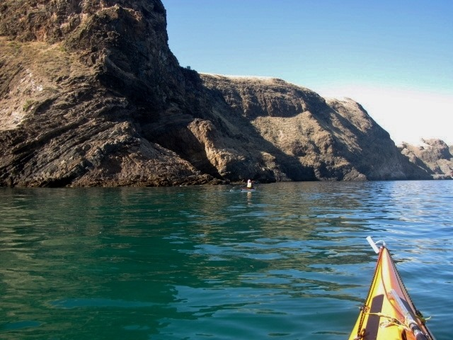 Paddling along the ancient coastline