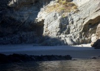One of the many small secluded beaches