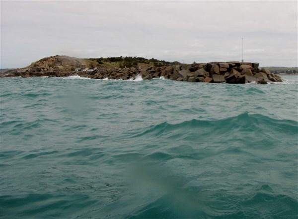 Rounding the breakwater
