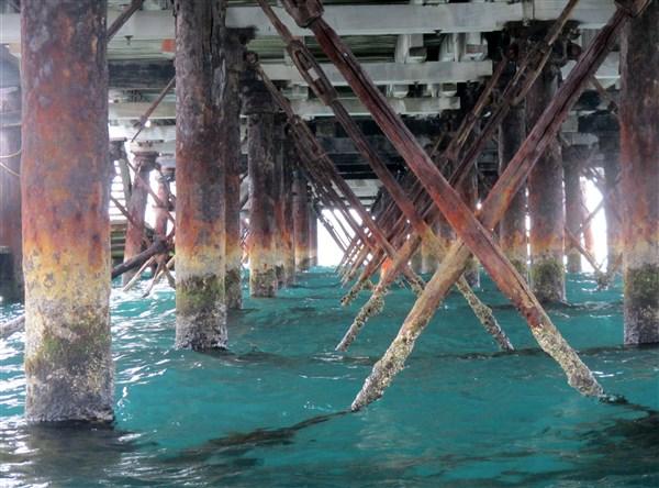 Under the causeway
