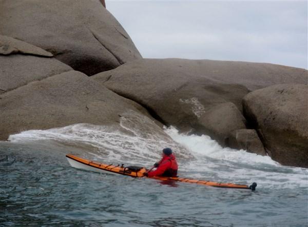 Sliding on the swells
