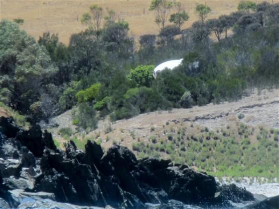 A closer view of the landing spot