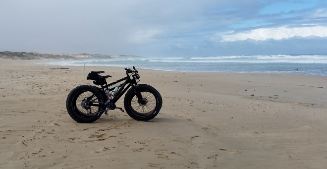 Two FatBikes on the beach