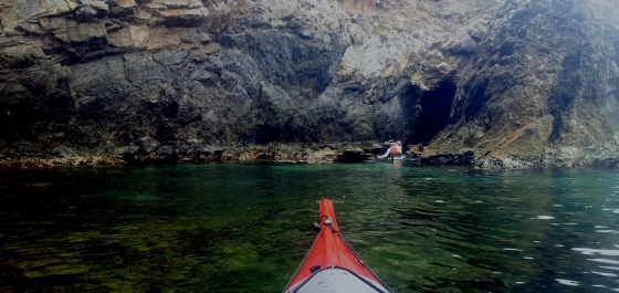 This way is a bit squeezy in a Seaward Passat Double kayak