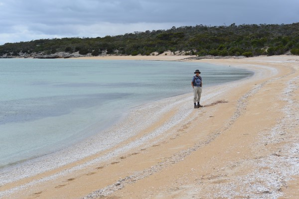 It was a nice day for a walk along the long stretches of deserted beaches and allowed us time to do a little beachcombing