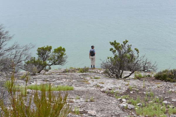 The beaches were seperated by limestone headlands that afforded a great view of the coastline