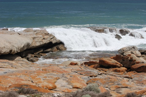 We realised it was not a safe place to be when a wave crashed over rocks